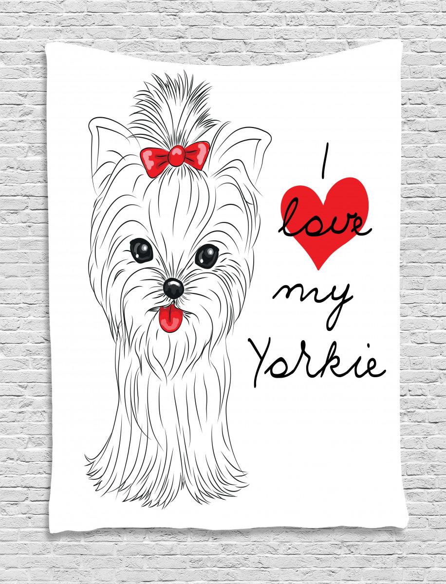 I Love My Yorkie Terrier Tapestry