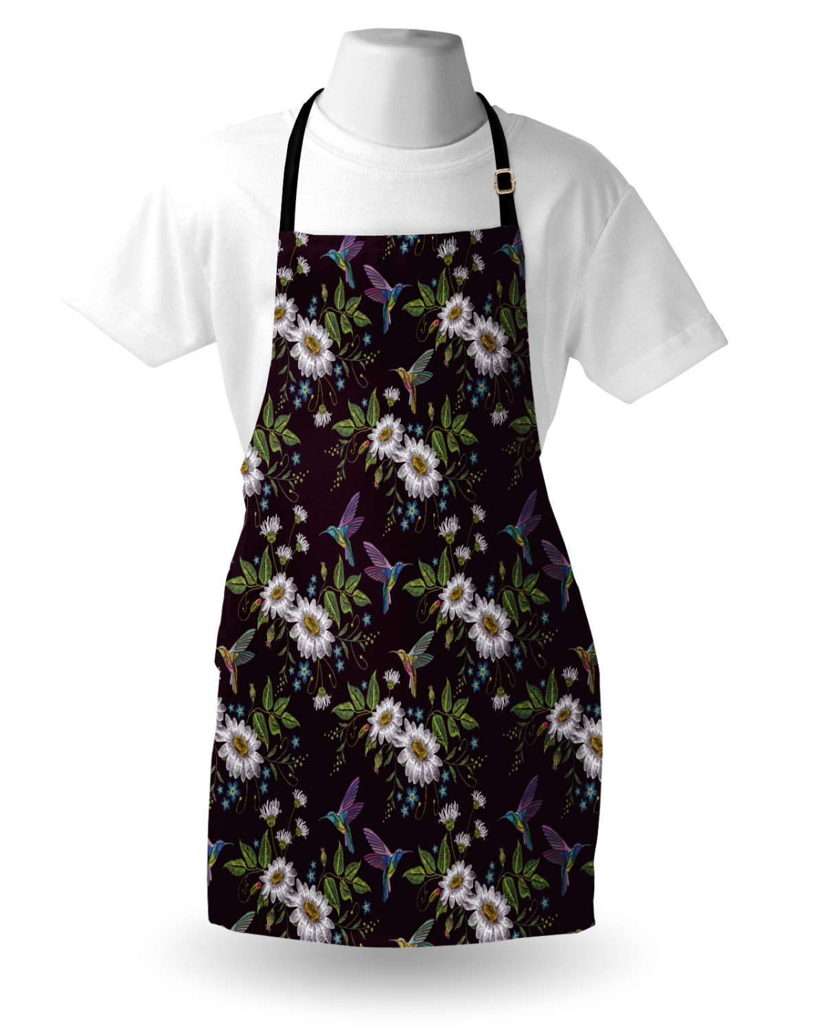 Ambesonne-Outdoor-Use-Apron-with-Adjustable-Neck-Strap-for-Gardening-and-Cooking miniatura 33