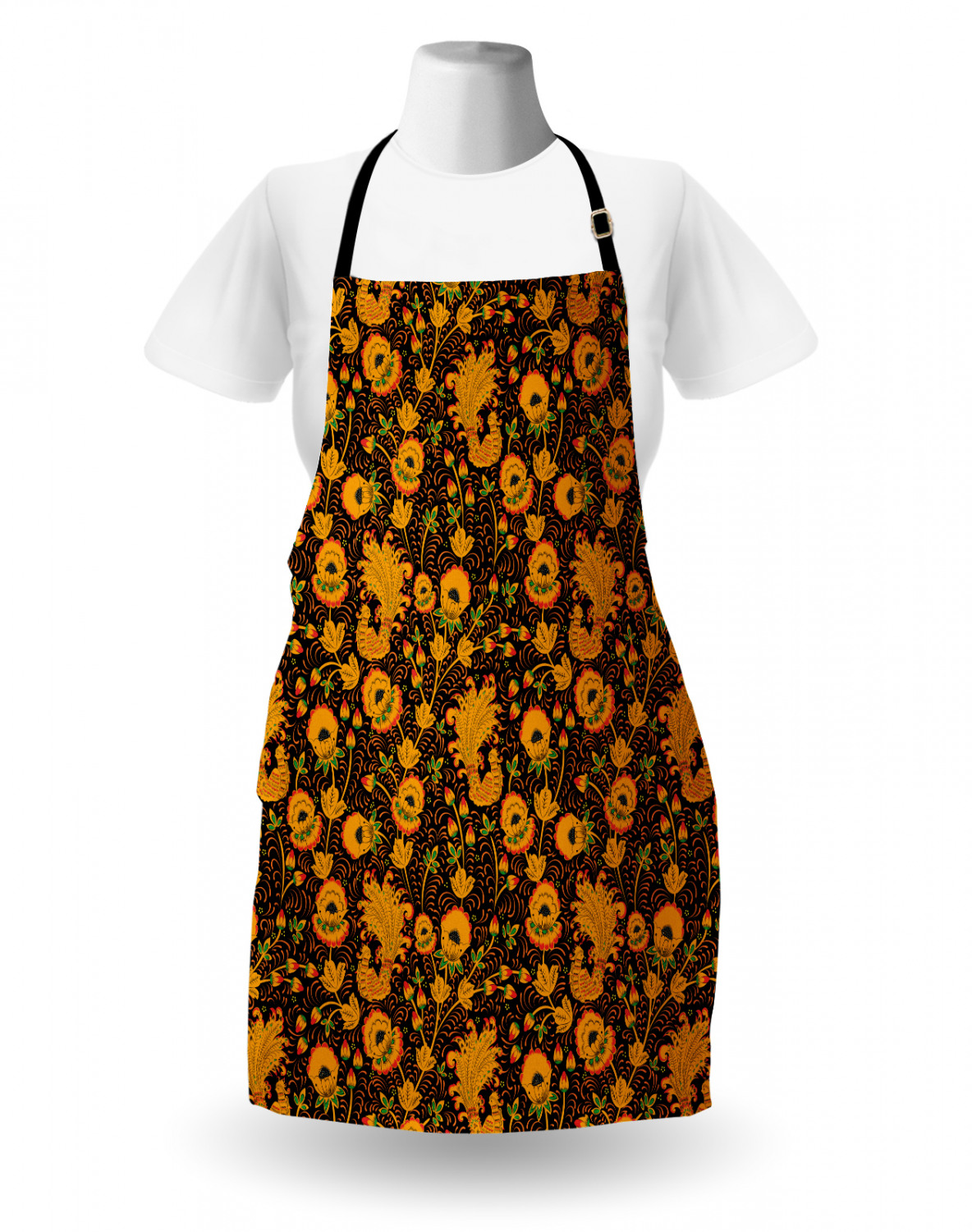 Ambesonne-Outdoor-Use-Apron-with-Adjustable-Neck-Strap-for-Gardening-and-Cooking miniatura 53