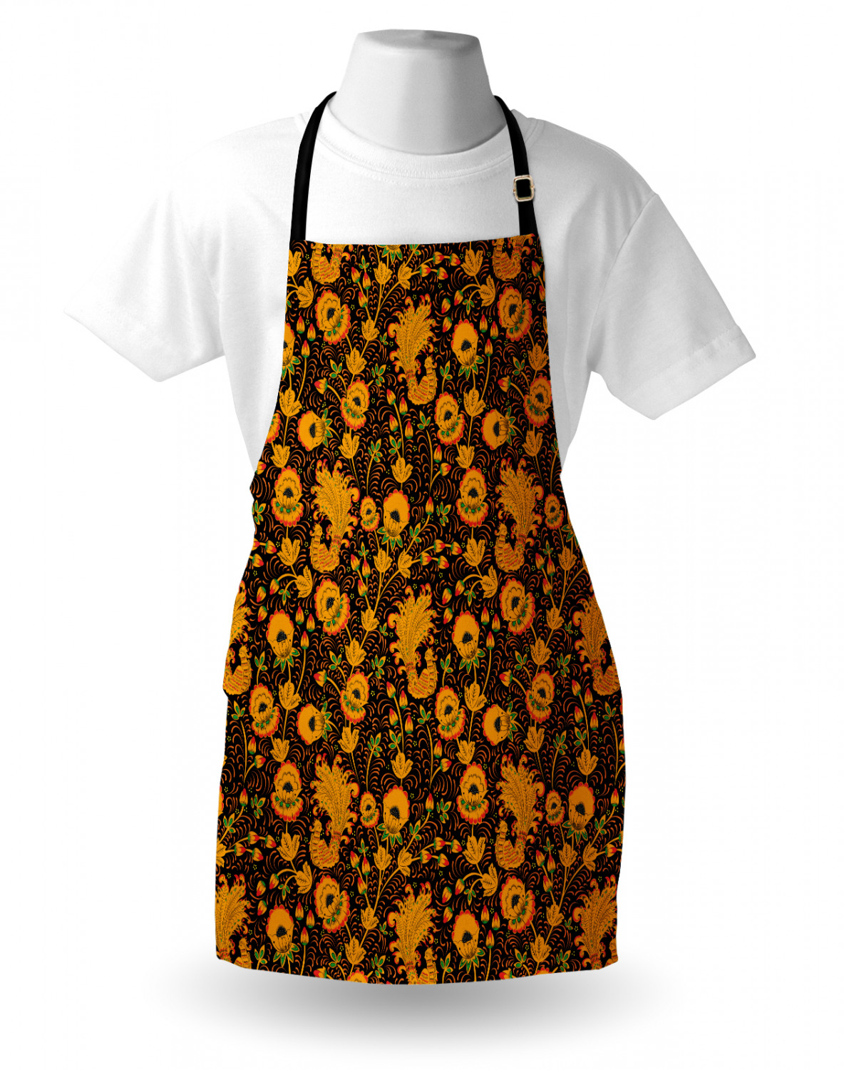 Ambesonne-Outdoor-Use-Apron-with-Adjustable-Neck-Strap-for-Gardening-and-Cooking miniatura 54