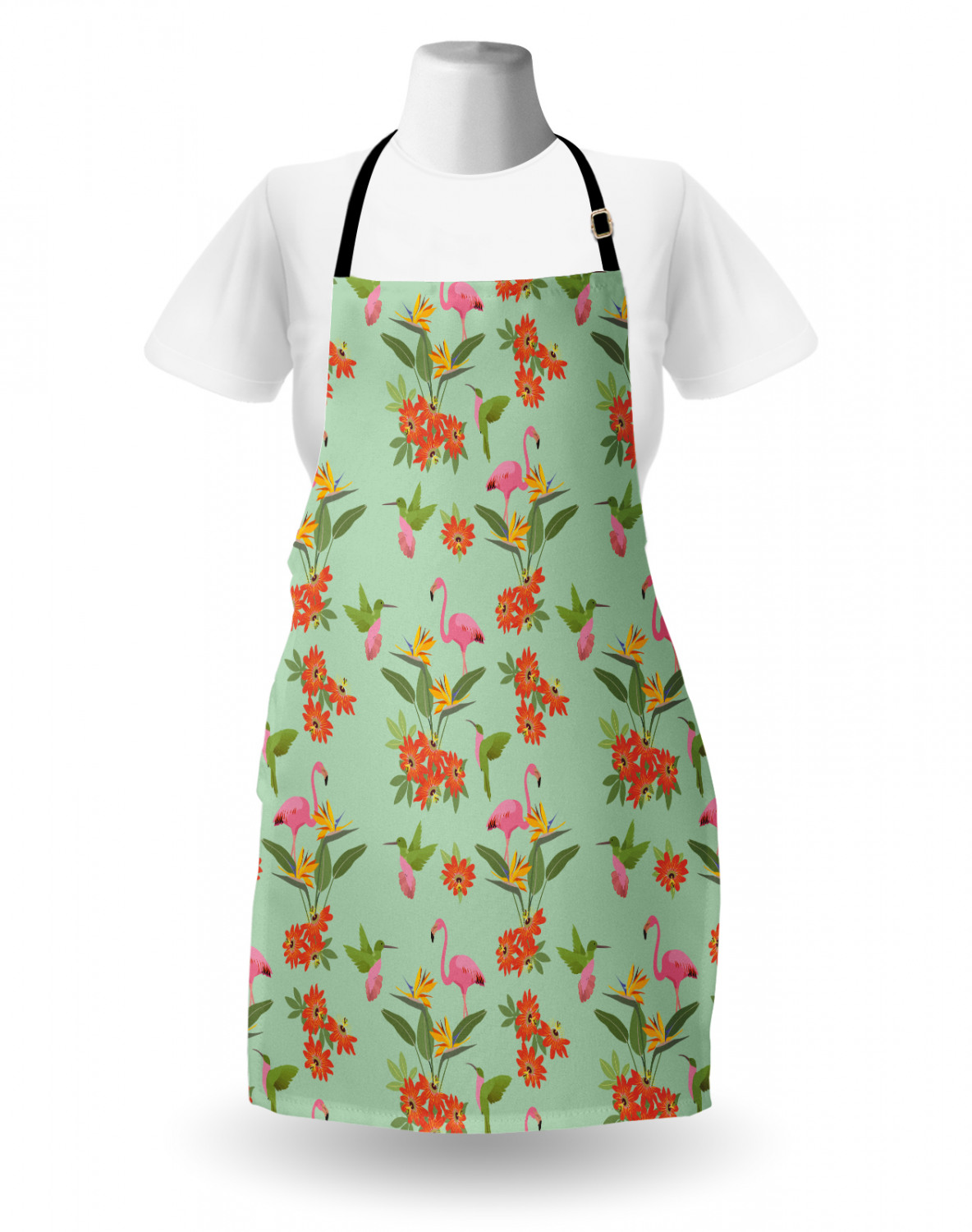 Ambesonne-Outdoor-Use-Apron-with-Adjustable-Neck-Strap-for-Gardening-and-Cooking miniatura 170