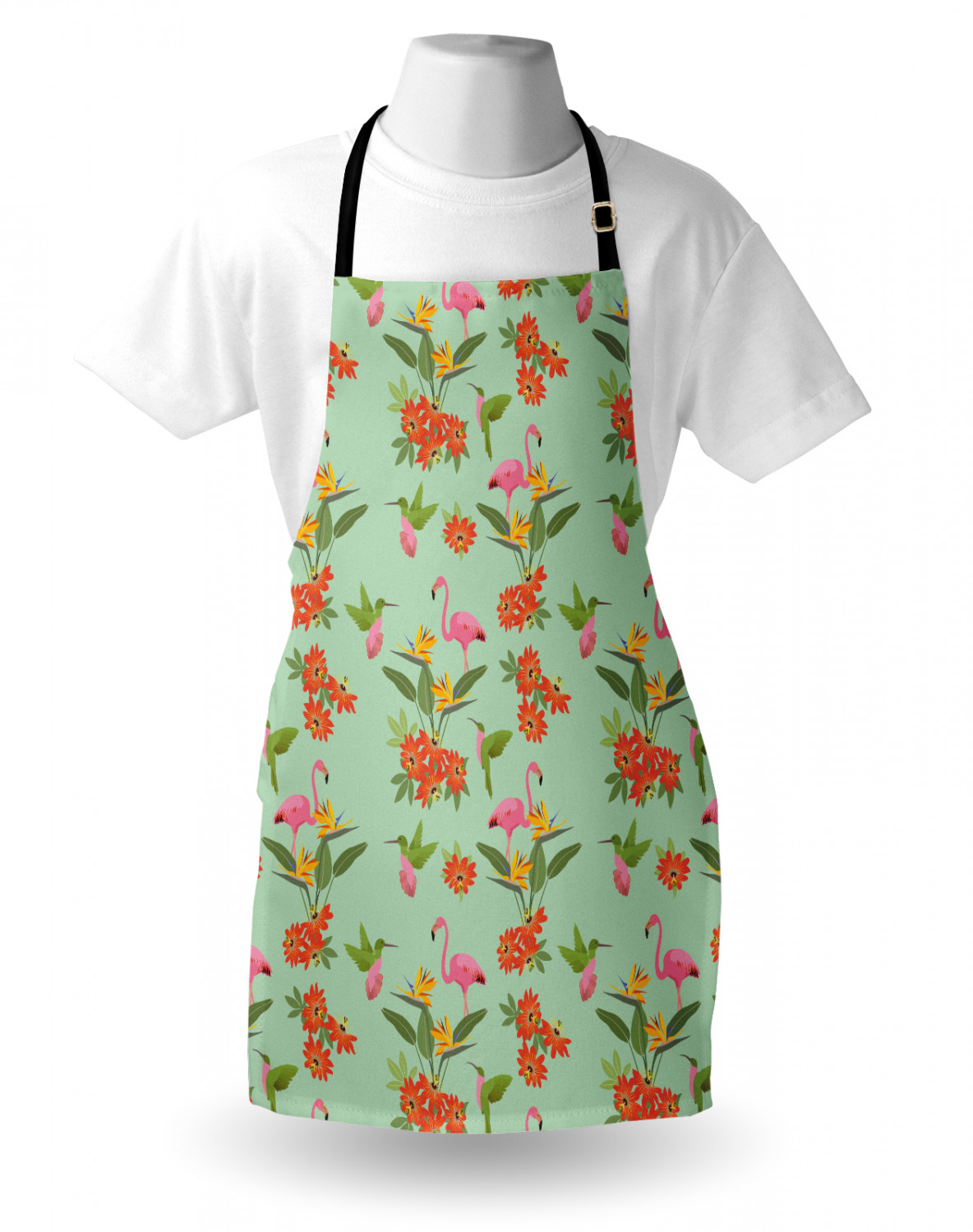 Ambesonne-Outdoor-Use-Apron-with-Adjustable-Neck-Strap-for-Gardening-and-Cooking miniatura 171