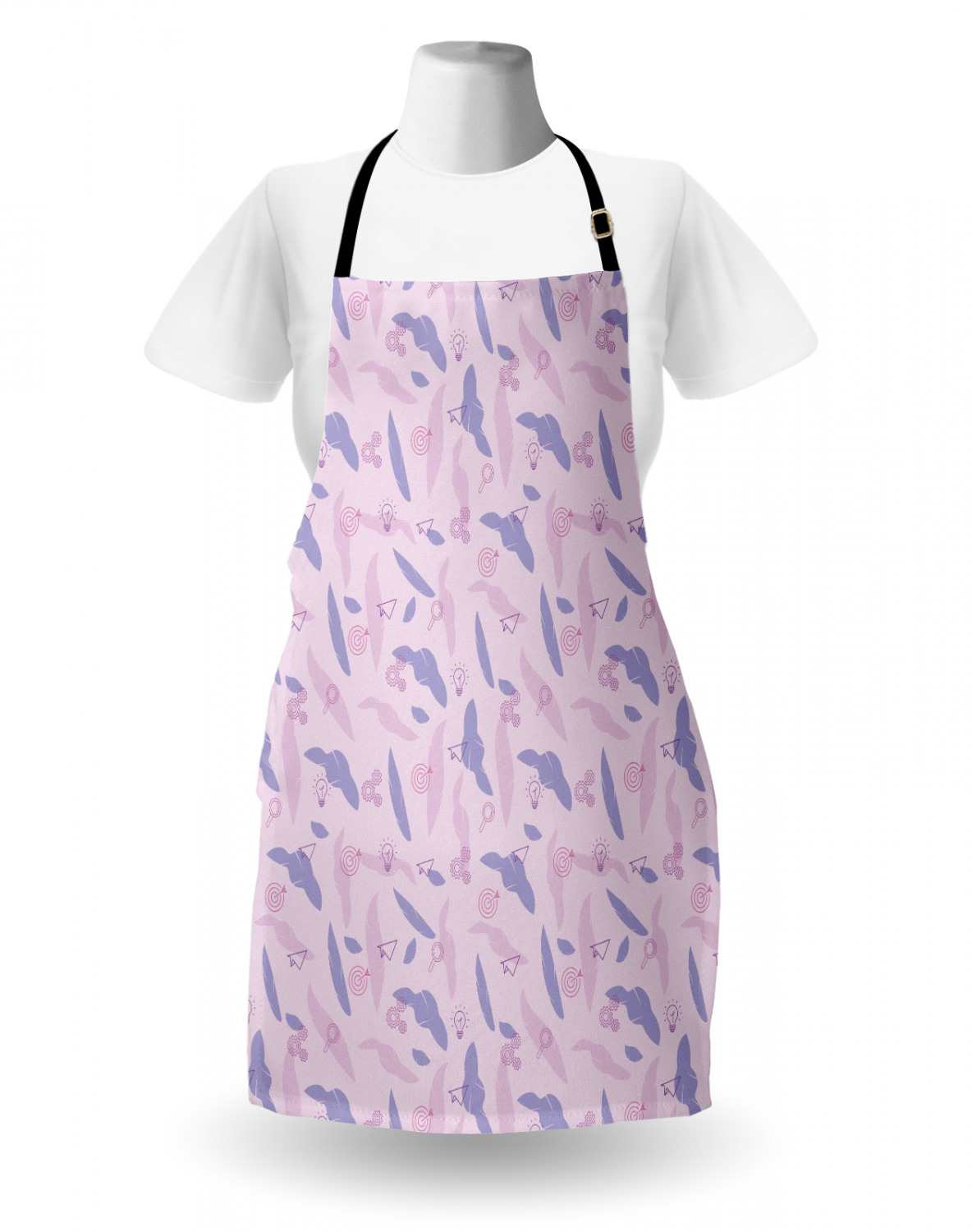 Ambesonne-Outdoor-Use-Apron-with-Adjustable-Neck-Strap-for-Gardening-and-Cooking miniatura 122