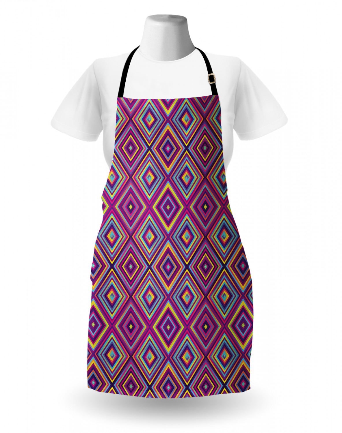 Ambesonne-Outdoor-Use-Apron-with-Adjustable-Neck-Strap-for-Gardening-and-Cooking miniatura 41