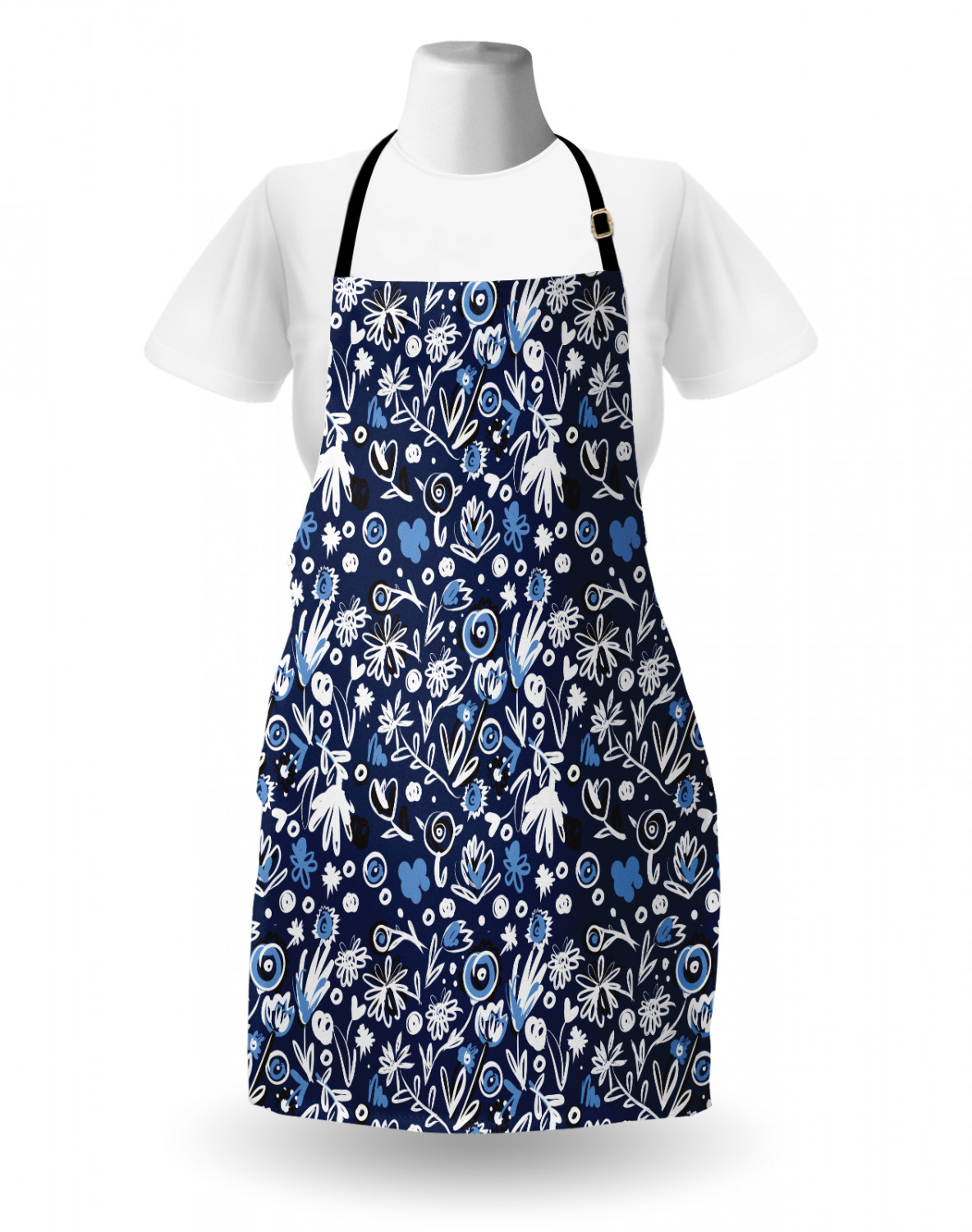 Ambesonne-Outdoor-Use-Apron-with-Adjustable-Neck-Strap-for-Gardening-and-Cooking miniatura 152