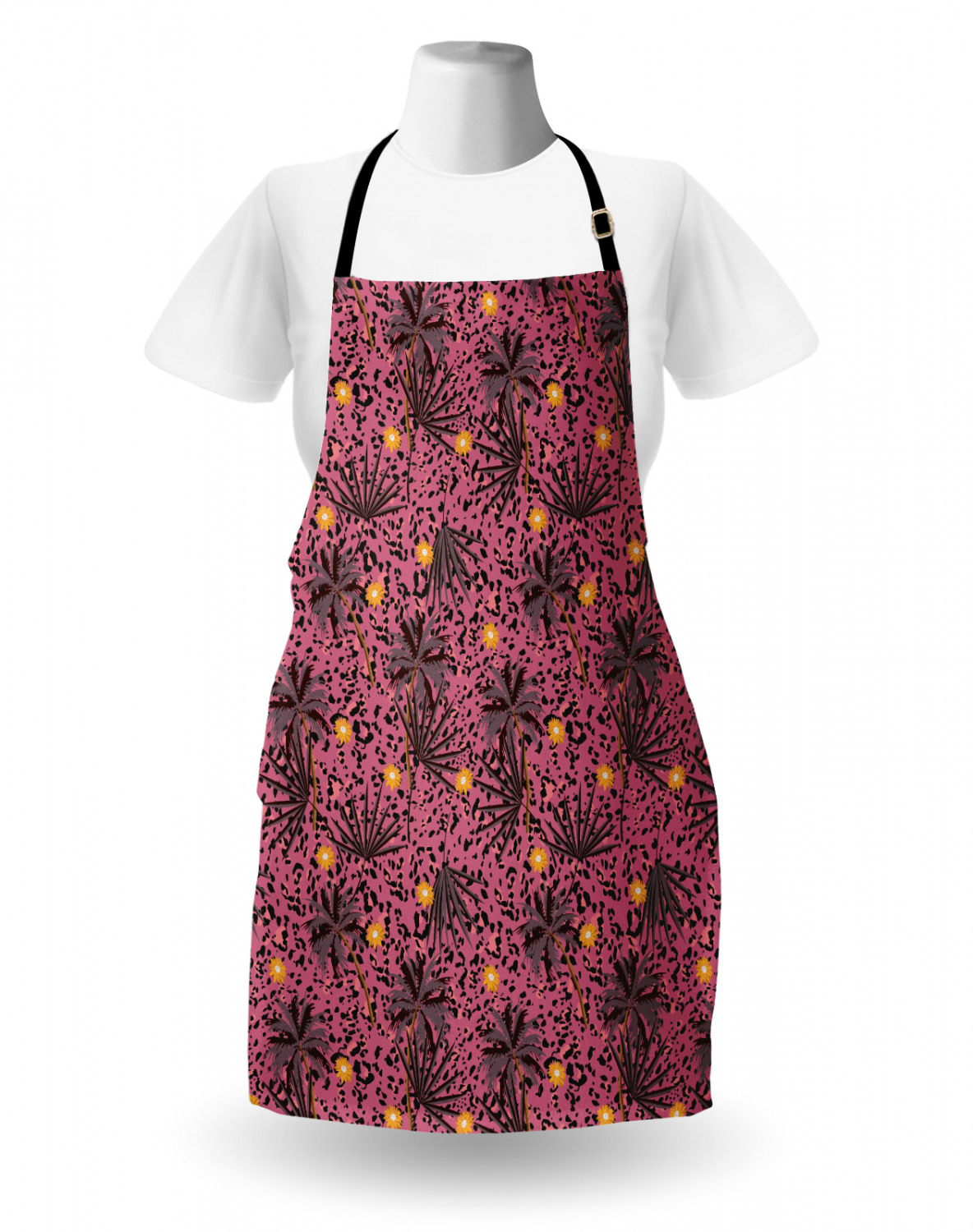 Ambesonne-Outdoor-Use-Apron-with-Adjustable-Neck-Strap-for-Gardening-and-Cooking miniatura 35