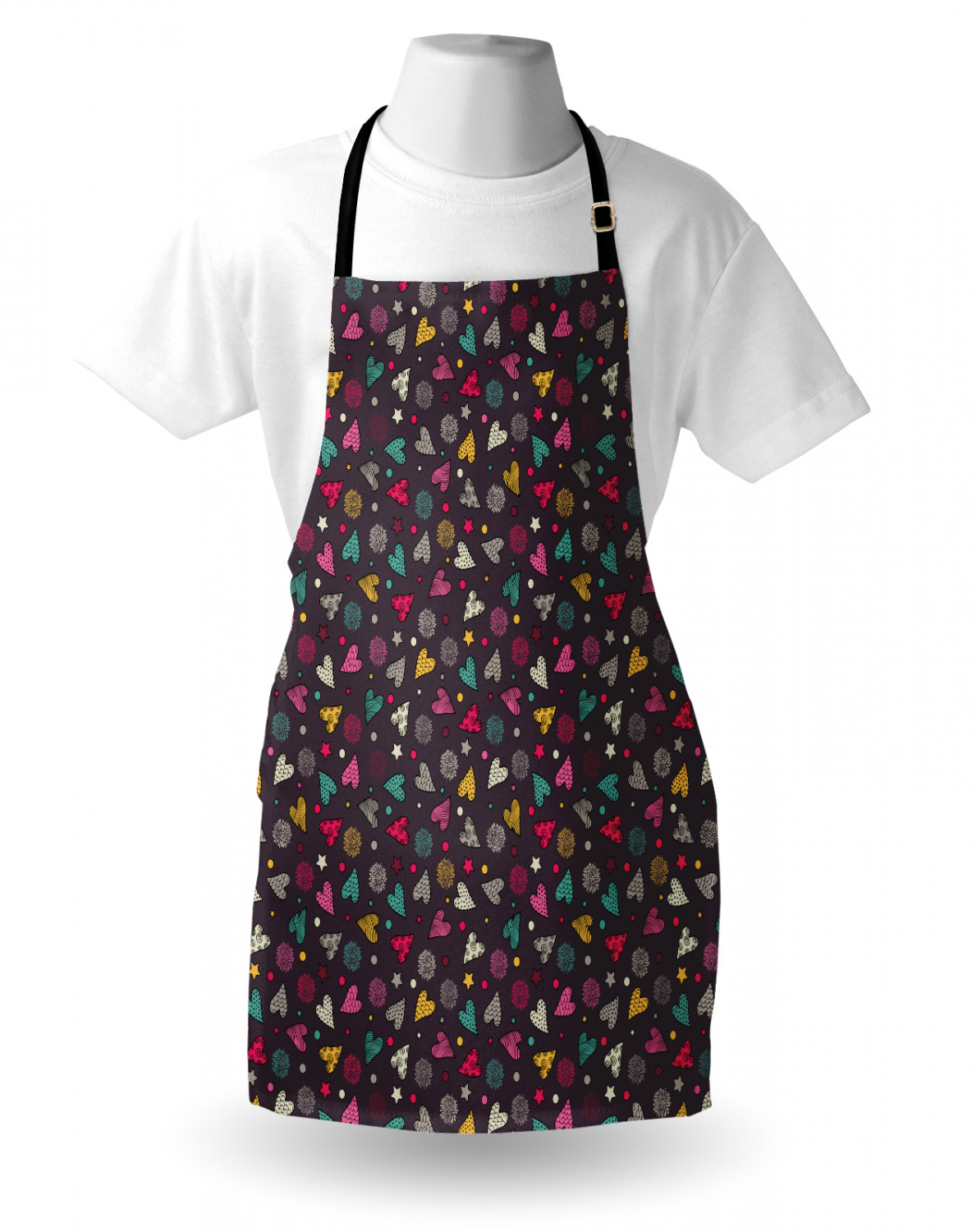 Ambesonne-Outdoor-Use-Apron-with-Adjustable-Neck-Strap-for-Gardening-and-Cooking miniatura 63