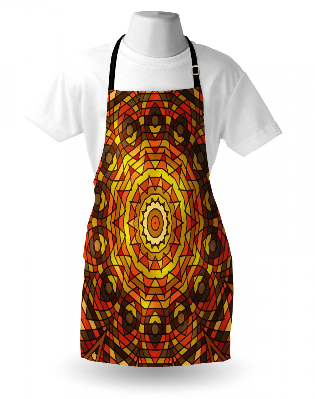 Ambesonne Vibrant Apron Unisex Kitchen Bib with Adjustable Neck Cooking Baking