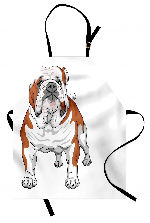 English-Bulldog-Apron-Unisex-Kitchen-Bib-with-Adjustable-Neck-for-Cooking-Baking 縮圖 118