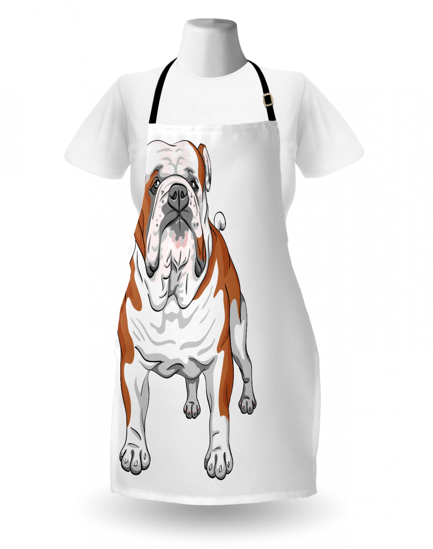 English-Bulldog-Apron-Unisex-Kitchen-Bib-with-Adjustable-Neck-for-Cooking-Baking 縮圖 119