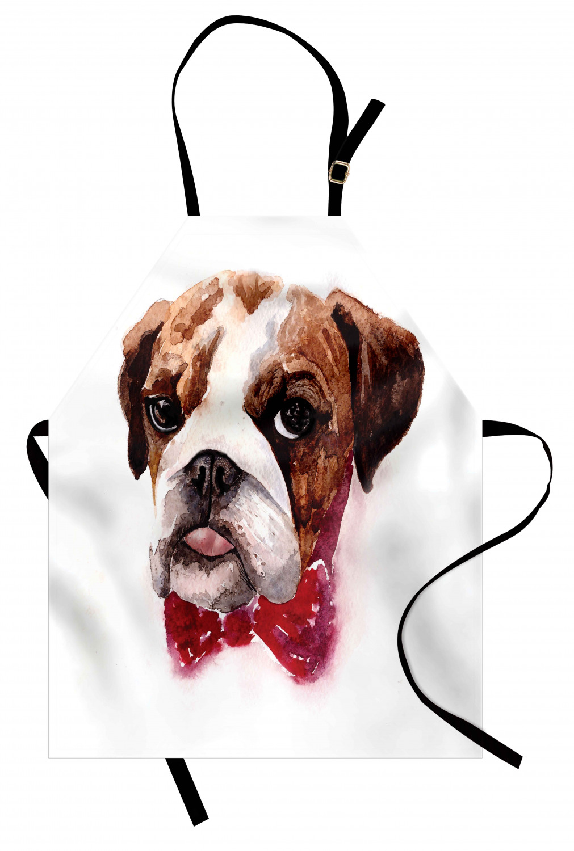 English-Bulldog-Apron-Unisex-Kitchen-Bib-with-Adjustable-Neck-for-Cooking-Baking 縮圖 58