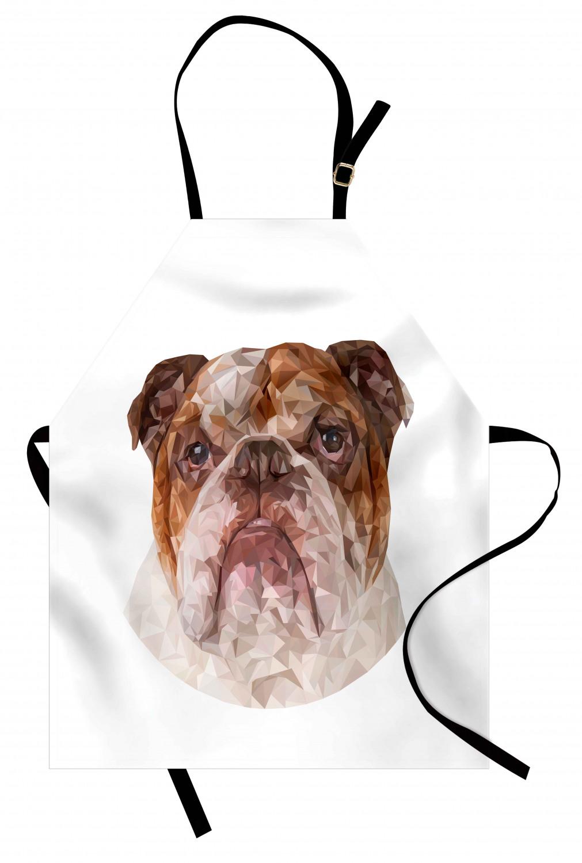 English-Bulldog-Apron-Unisex-Kitchen-Bib-with-Adjustable-Neck-for-Cooking-Baking 縮圖 103