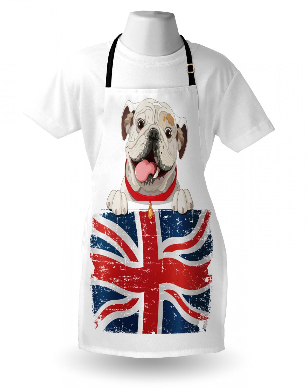 English-Bulldog-Apron-Unisex-Kitchen-Bib-with-Adjustable-Neck-for-Cooking-Baking 縮圖 78