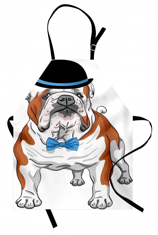 English-Bulldog-Apron-Unisex-Kitchen-Bib-with-Adjustable-Neck-for-Cooking-Baking 縮圖 31