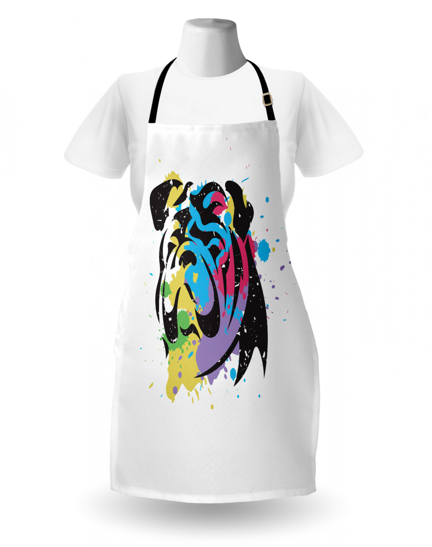 English-Bulldog-Apron-Unisex-Kitchen-Bib-with-Adjustable-Neck-for-Cooking-Baking 縮圖 143