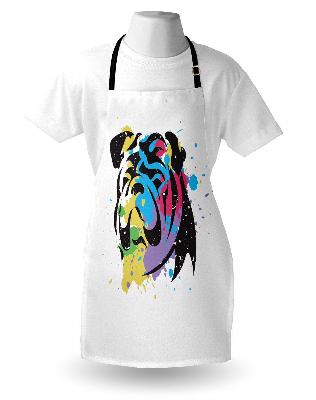 English-Bulldog-Apron-Unisex-Kitchen-Bib-with-Adjustable-Neck-for-Cooking-Baking 縮圖 144