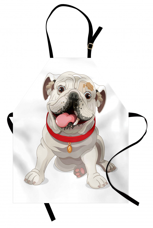English-Bulldog-Apron-Unisex-Kitchen-Bib-with-Adjustable-Neck-for-Cooking-Baking 縮圖 10