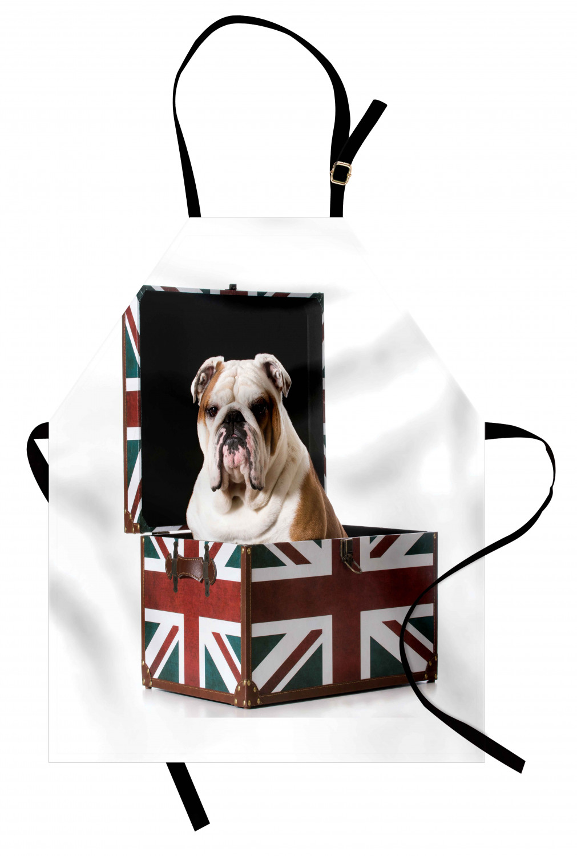 English-Bulldog-Apron-Unisex-Kitchen-Bib-with-Adjustable-Neck-for-Cooking-Baking 縮圖 175
