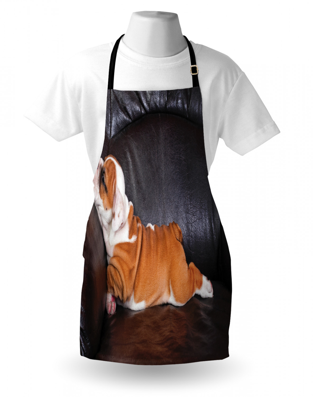 English-Bulldog-Apron-Unisex-Kitchen-Bib-with-Adjustable-Neck-for-Cooking-Baking 縮圖 147