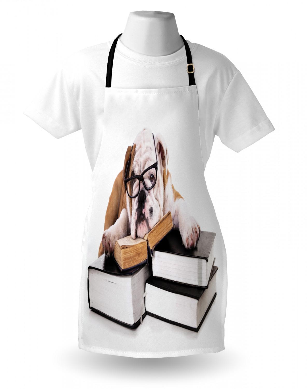 English-Bulldog-Apron-Unisex-Kitchen-Bib-with-Adjustable-Neck-for-Cooking-Baking 縮圖 30