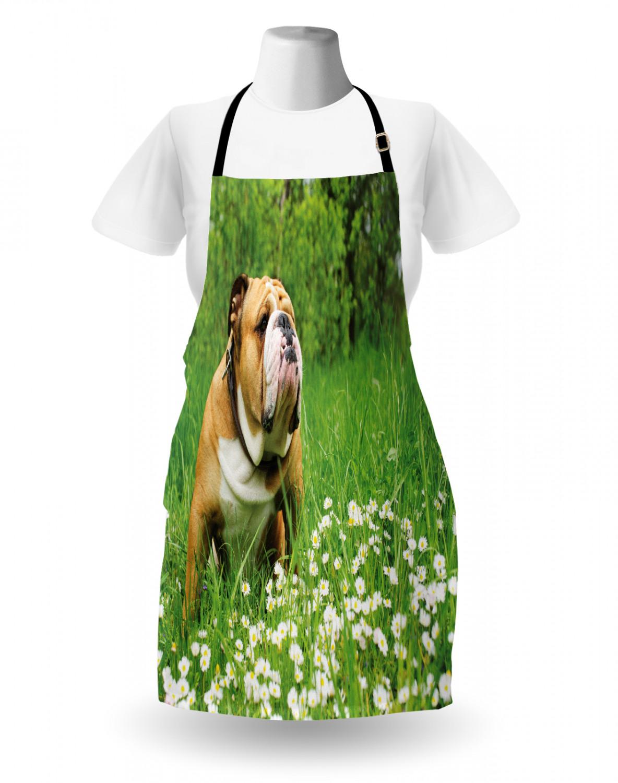English-Bulldog-Apron-Unisex-Kitchen-Bib-with-Adjustable-Neck-for-Cooking-Baking 縮圖 167