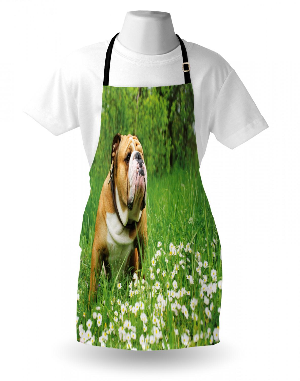 English-Bulldog-Apron-Unisex-Kitchen-Bib-with-Adjustable-Neck-for-Cooking-Baking 縮圖 168
