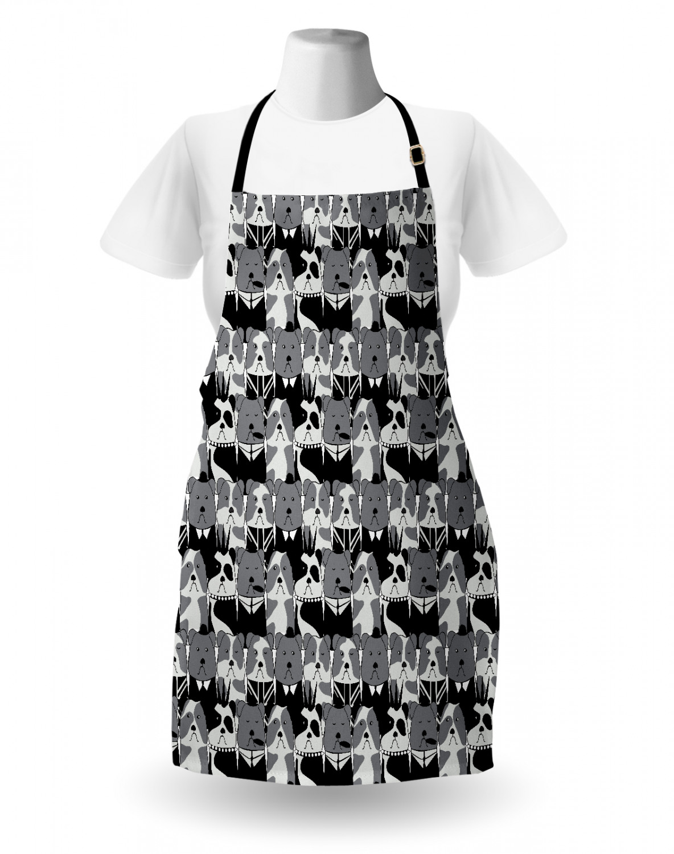 English-Bulldog-Apron-Unisex-Kitchen-Bib-with-Adjustable-Neck-for-Cooking-Baking 縮圖 86