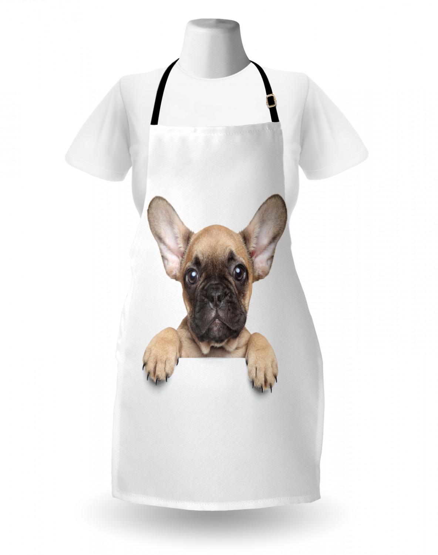English-Bulldog-Apron-Unisex-Kitchen-Bib-with-Adjustable-Neck-for-Cooking-Baking 縮圖 128