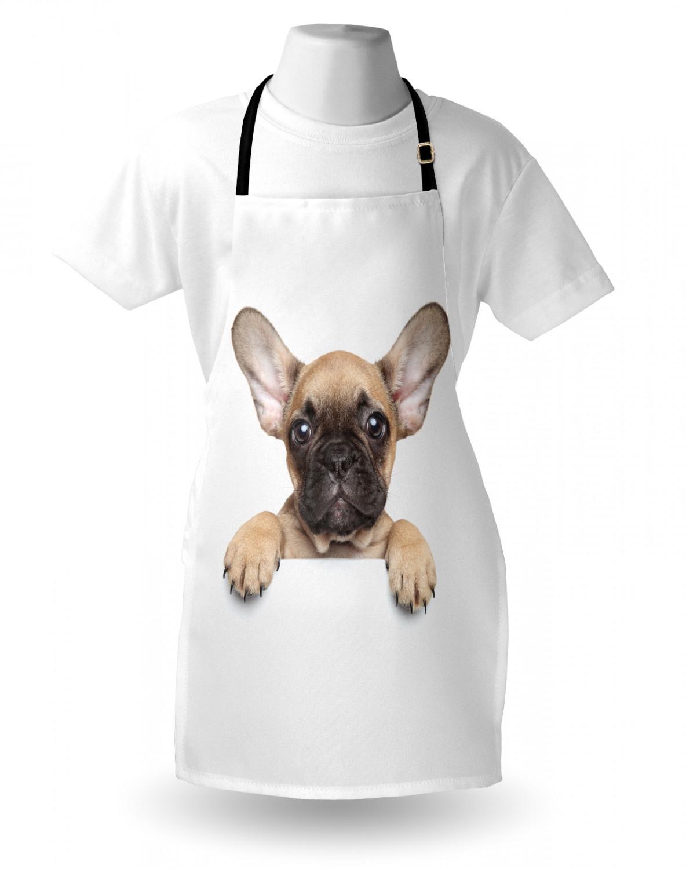 English-Bulldog-Apron-Unisex-Kitchen-Bib-with-Adjustable-Neck-for-Cooking-Baking 縮圖 129