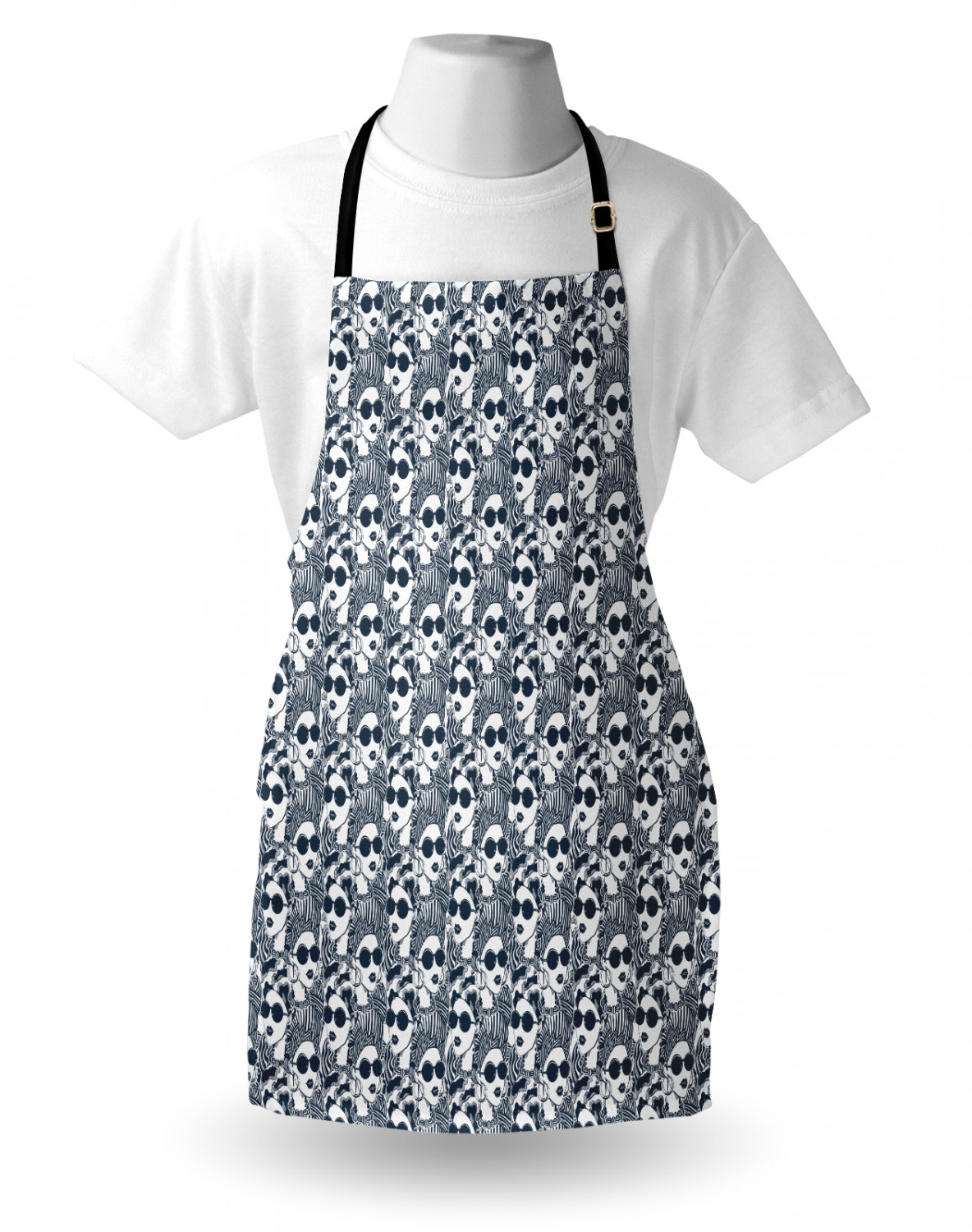 Details about  /Ambesonne Washable Apron with Adjustable Neck Strap for Garden Cooking