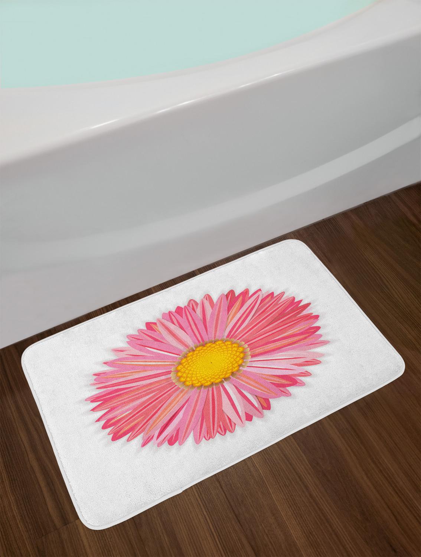 Gerber Daisy Bath Mat Bathroom Decor Plush Non-Slip Mat 29 ...