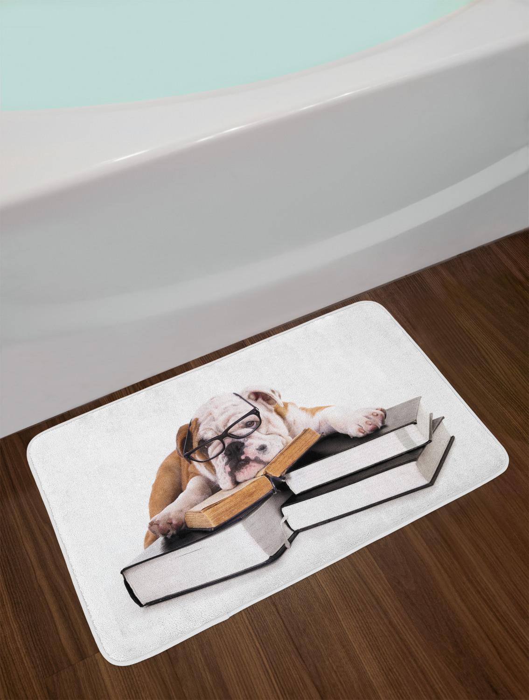 . Details about English Bulldog Bath Mat Bathroom Home Decor Plush Non Slip  Mat 29 5  X 17 5