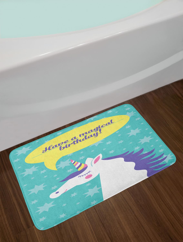 Unicorn Bath Mat Bathroom Home Kitchen Decor Plush Non