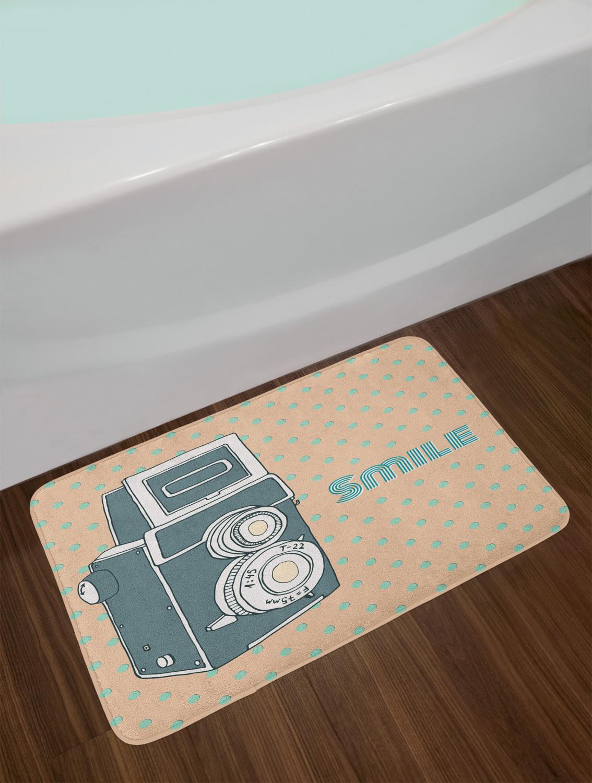Vintage-Camera-Bath-Mat-Bathroom-Decor-Plush-Non-Slip-Mat-29-5-034-X-17-5-034 thumbnail 22