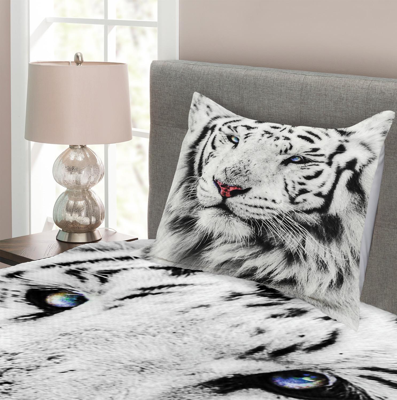 schwarz weiss tagesdecke und kissenbez ge set winter. Black Bedroom Furniture Sets. Home Design Ideas