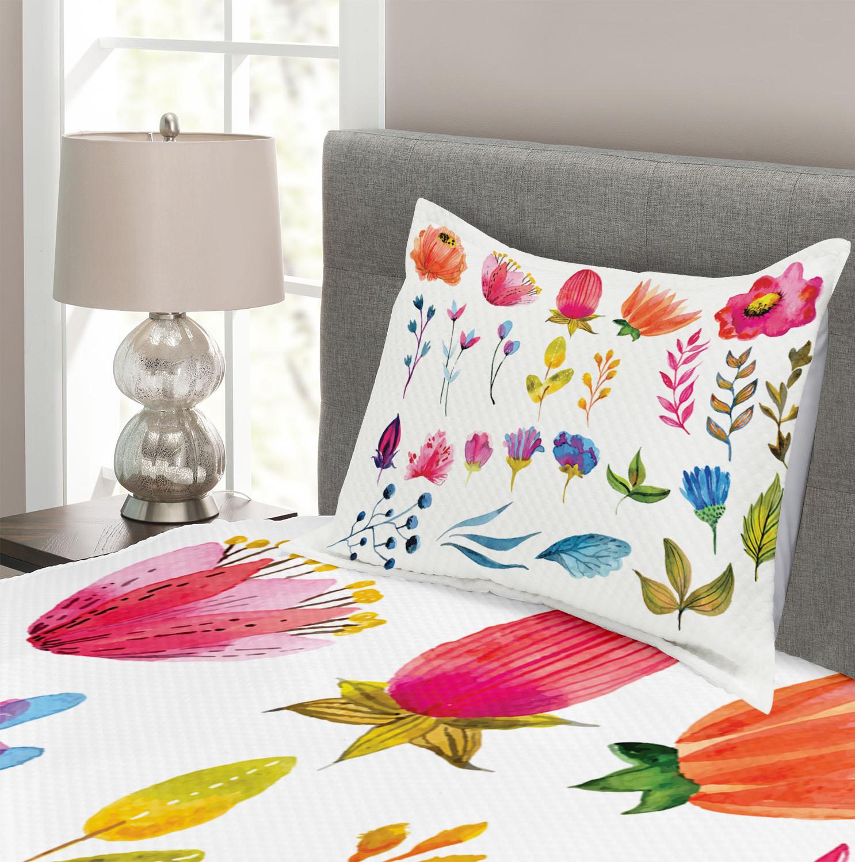 Flower Tagesdecke Tagesdecke Tagesdecke und Kissenbezüge Set WaterFarbe Garden Design Druck 783da7