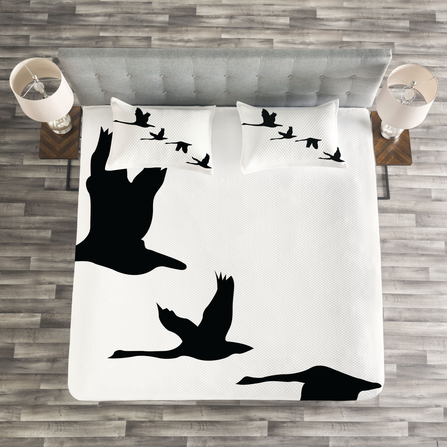 Freedom Tagesdecke und Kissenbezüge Set Group Group Group of Flying Birds Druck 6cb5f6