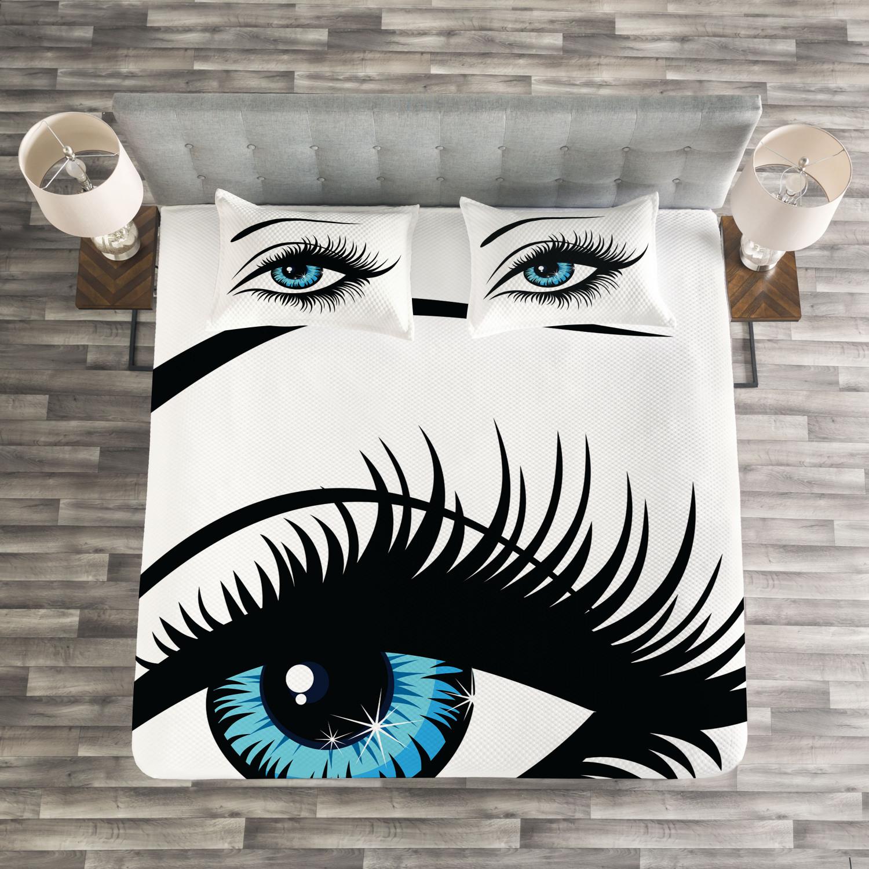 Eye Tagesdecke und und und Kissenbezüge Set Azure Blau Glance Cartoon Druck 5ebc79