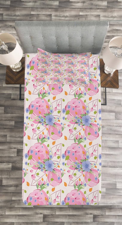 Flower Tagesdecke und und und Kissenbezüge Set Fresh Spring Garden Druck c12cce