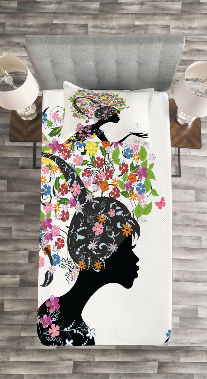 Zodiac Scorpio Tagesdecke und und und Kissenbezüge Set Floral Girl Druck aaba12