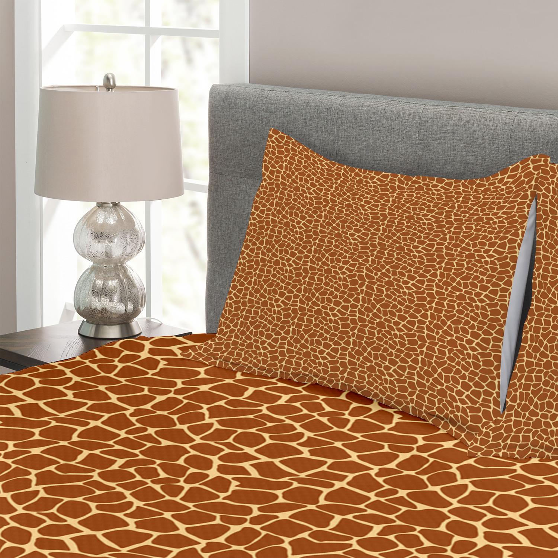 Earth Tones Tones Tones Tagesdecke und Kissenbezüge Set Giraffe Skin Print Druck e076fe