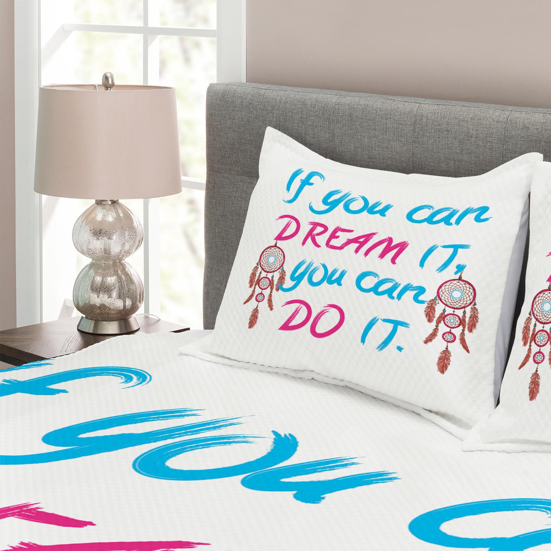 Dream Dream Dream Tagesdecke und Kissenbezüge Set Native American Motifs Quote Druck ad5767