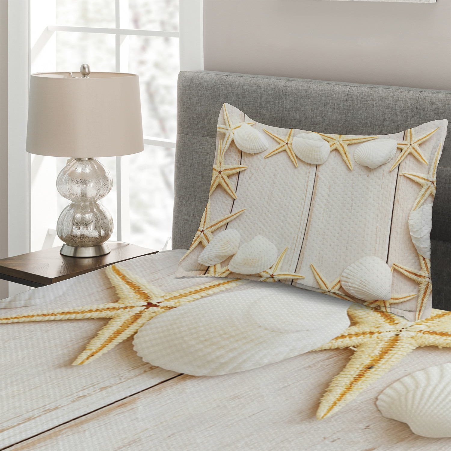 Vertical Rustic Planks Print Details about  /Vintage Quilted Coverlet /& Pillow Shams Set