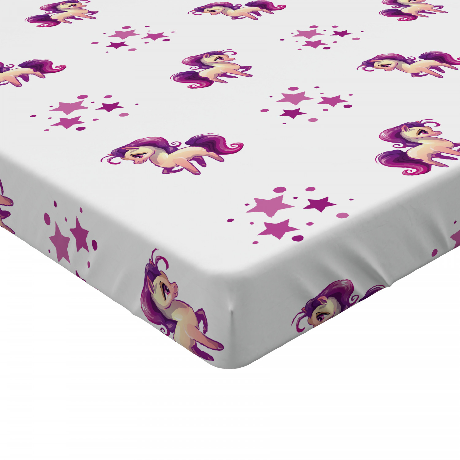 Modern Kids Fitted Sheet Cover with All-Round Elastic Pocket in 4 Sizes