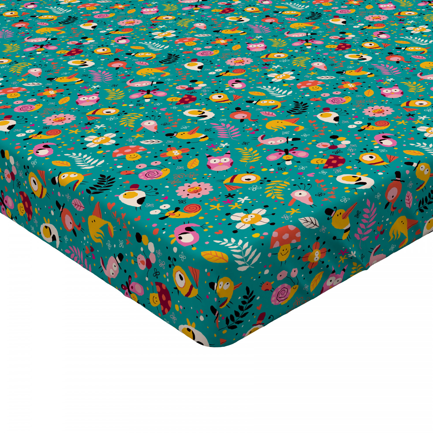 Simple Pattern Fitted Sheet Cover with All-Round Elastic Pocket in 4 Sizes