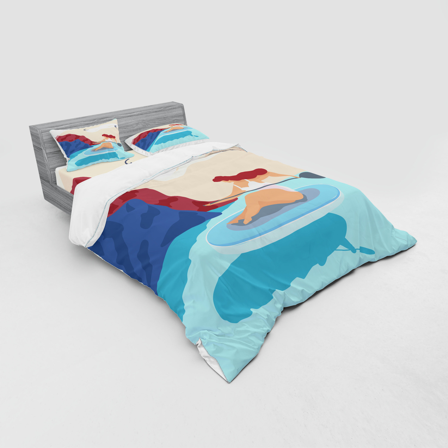 thumbnail 95 - Ambesonne Summer Bedding Set Duvet Cover Sham Fitted Sheet in 3 Sizes