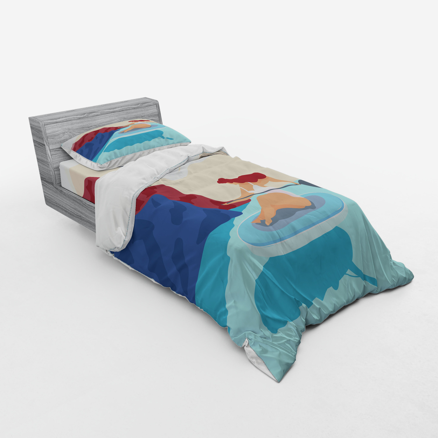 thumbnail 93 - Ambesonne Summer Bedding Set Duvet Cover Sham Fitted Sheet in 3 Sizes