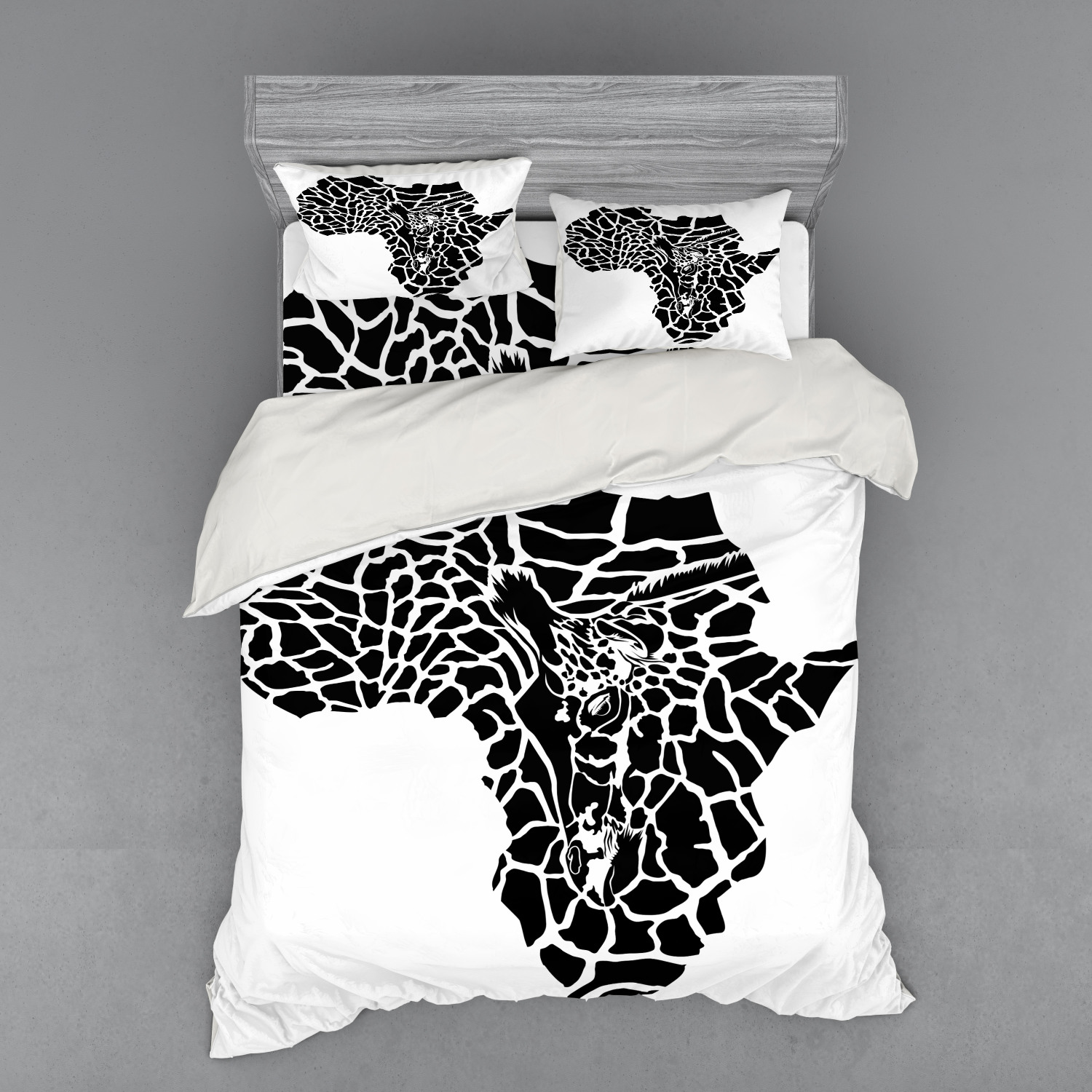 thumbnail 222 - Ambesonne Black White Art Bedding Set Duvet Cover Sham Fitted Sheet in 3 Sizes