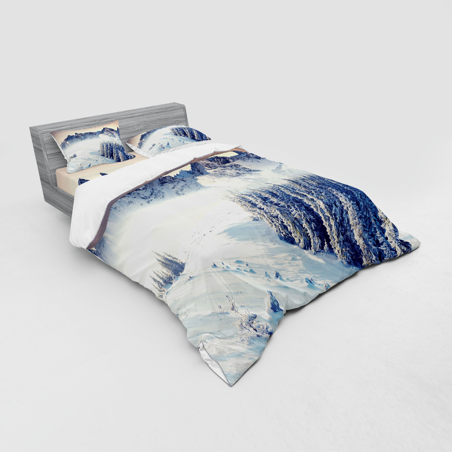 thumbnail 183 - Ambesonne Black White Art Bedding Set Duvet Cover Sham Fitted Sheet in 3 Sizes