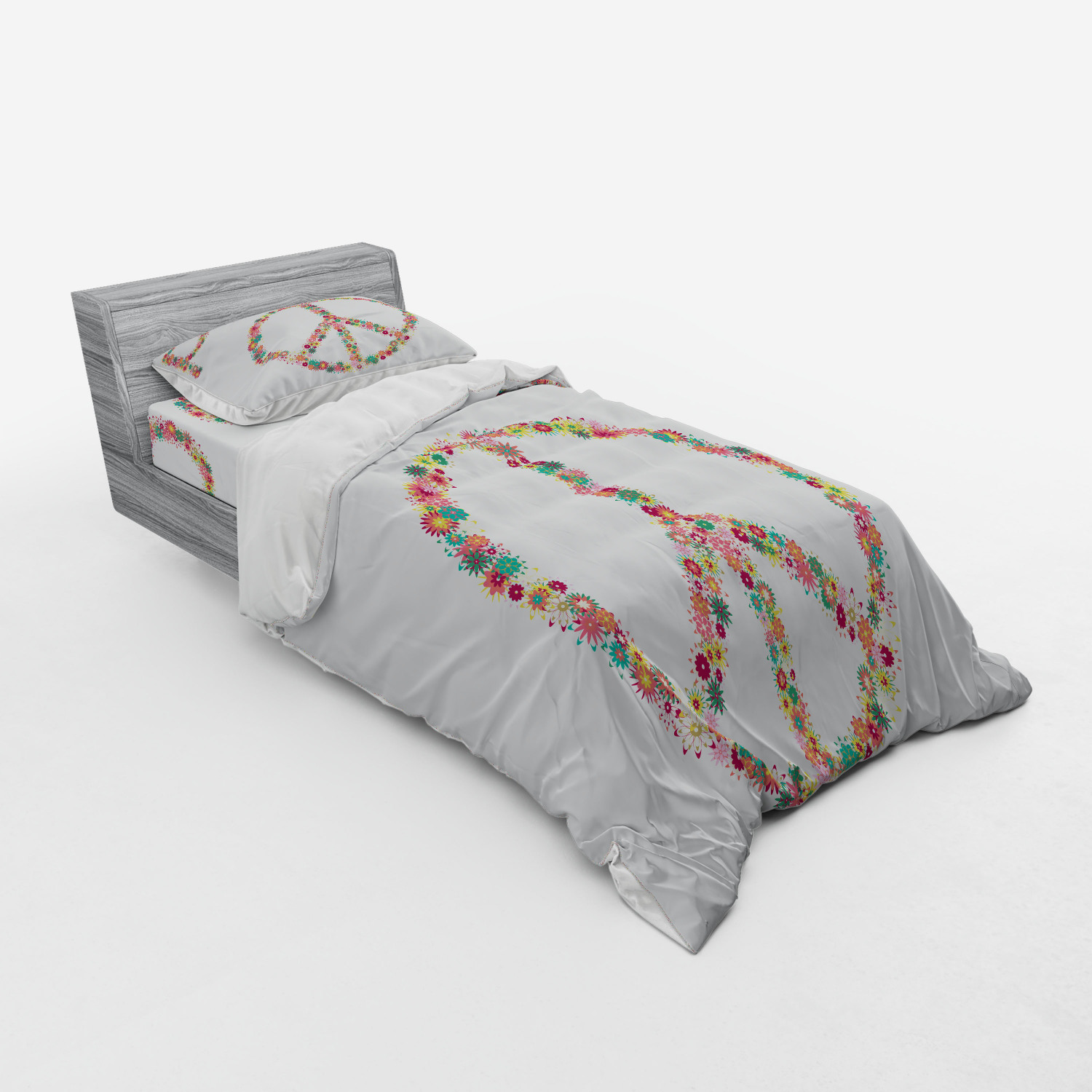 thumbnail 137 - Ambesonne Summer Bedding Set Duvet Cover Sham Fitted Sheet in 3 Sizes